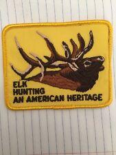 Vintage elk hunting patch, Elk Hunting an American Heritage