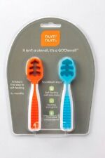 Num Num Dips Pre-Spoon Gootensil Set of 2 Baby First Step To Self Feeding NumNum
