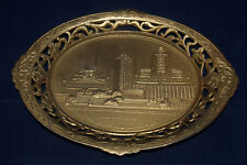 CHICAGO WORLDS FAIR 1933 METAL SOUVENIR PIN TRAY DISH HALL OF SCIENCE FEDERAL