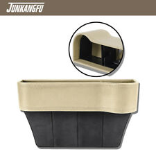 Leather Beige Console Side Pocket Organizer Cup Holder Car Seat Catcher US STOCK