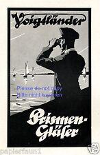 Fernglas Voigtländer Reklame von 1924 Prismenglas Feldstecher Kapitän Werbung