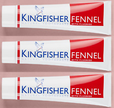 Kingfisher Toothpaste - Fennel (with Fluoride) - 100ml - 3 PACK