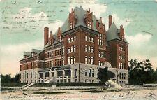 c1907 Chromograph Postcard Santa Fe Hospital, Topeka KS Zercher Co.