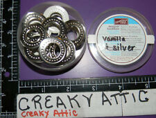 STAMPIN UP JUMBO GROMMETS 20 PIECES PAPER CRAFT VANILLA SILVER RETIRED