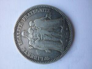 Pièce de 5 francs Hercule de 1873K en argent