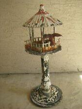 Vintage Outdoor Pedestal / Metal Bird Feeder