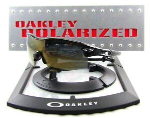 New Oakley Radar XL Sunglasses Gloss Black Frames/Bronze Mirror Polarized Lenses