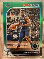 2019-20 NBA Hoops Premium Stock ZION WILLIAMSON SSP GREEN PRIZM RC #258🔥