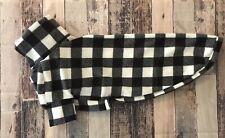 """BW Buffalo Plaid Greyhound Pajamas 30"""" Large Sighthound Fleece Pjs Coat Sweater"""