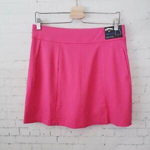 NEW Callaway Womens Golf Skort Skirt Size M Pink UPF 50 Protection Opti Dry