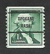 THE SPOKANE, WASHINGTON ONE CENT LIBERTY COIL BUREAU PRECANCEL SCOTT #1054-71 !!