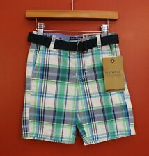 NWT Mayoral Boys' Size 4 Plaid Shorts w/Belt