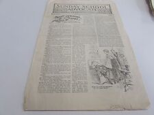 ANTIQUE - THE SUNDAY SCHOOL ADVOCATE - FOR BOY & GIRLS - DEC. 7TH 1918