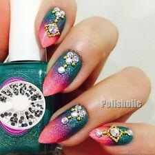 160Pcs/Wheel 3D Nail Art Decoration Flatback Rhinestone Gems DIY Manicure Studs