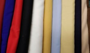 """Swiss Wool Challis or Muslin, 55"""" Wide 100% Wool , Light Weight, Many Colors"""