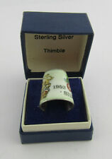 More details for boxed silver & enamel silver jubilee souvenir thimble by js&s, sheffield 1977 #1