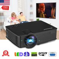 12000 Lumens LED Projector Mini Home Theater Cinema Multimedia USB VGA SD AV New