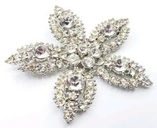 Vintage Bogoff Starfish Star Clear Rhinestones Brooch pin