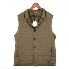 NEW LUCIANO BARBERA Padded Brown Sport Outer Gilet Vest XL EU54 US44 NWT