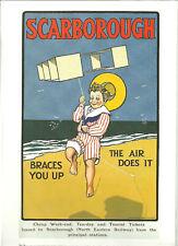 Railway Poster 24: NER North Eastern Railway Scarborough Beach Boy Box Kite Hat