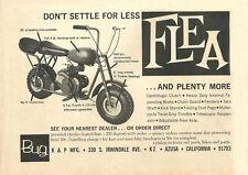 Vintage 1960's Bug Flea Mini-Bike Ad