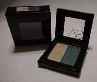 Victoria's Secret Silky Eye Shadow Duo SECRET SPOT Silver & Blue .11 oz NIB