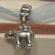 AUTHENTIC PANDORA~POLAR BEAR~Silver & CZ~Pendant Charm Bead 791029CZ Holiday