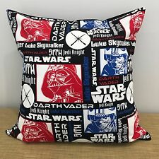 "18"" (45cm) RED AND BLACK STAR WARS Cushion Pillow Cover. Made Australia"