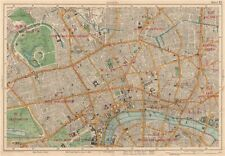 LONDON CENTRAL Westminster West End City Islington Southwark. BACON 1927 map