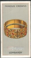 The Iron Crown of Lombardy Italy c80 Y/O Ad Trade Card