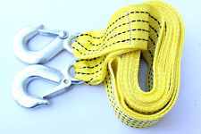New Car 3000kg 3m Tow Towing Rope Nylon Traction Rope Steel Hooks Emergency