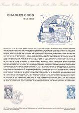 Document philatélique 45-77 1er jour 1977 Charles Cros Audiovisuel