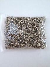 800 pcs Silver Tone Double Loop Open Jump Rings Jewelry Double Ring 6mm #4 Split