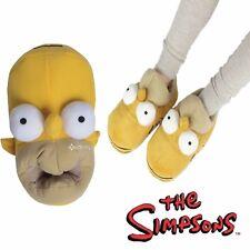 Mens Homer Simpson 3D Novelty Head Shaped Novelty Slippers Shoe Sizes 7-12 Gift