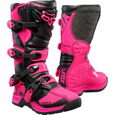 FOX COMP 5 YOUTH MX BOOTS - BLACK/PINK