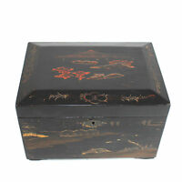 Antique Japanese Lacquer Teacaddy with Two inserts