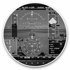 2 x Vinyl Stickers 25cm (bw) - Airplane Cockpit Guages Plane Pilot  #37141