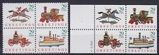 Stati Uniti Thomson NOLAN ** 2x 4er blocco, veicoli, nave, Lok, posta freschi, MNH
