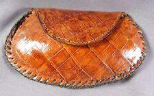 New Handmade Genuine Brown Alligator/Crocodile Skin coin  bag 2