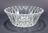"Clear Pressed Glass 8"" Serving Bowl"