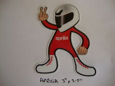 "2 APRILIA 2 FINGERED SALUTE STICKERS 3.5""x 3"" MOTORBIKE HELMET IOM TT ROCKERS"