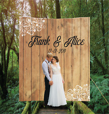 Personalized Wedding Backdrop Banner Custom Bridal Sign Reception Decoration 15