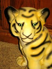 LARGE CERAMIC JUNGLE CAT TIGER STATUE