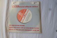 Very Rare VINTAGE 1960s Vinyl LP33 BBC SOUND EFFECTS EC6B FOX HUNTING QUORN HUNT