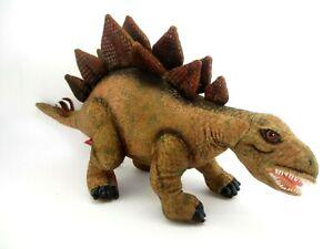 """F.A.O. Schwartz Brown Stegosaurus Dinosaur 19"""" Plush Toy 2016"""