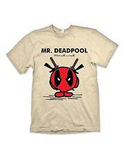 Herr Deadpool T-Shirt Mr Men Marvel Comics Kurzärmeliges T-Shirt
