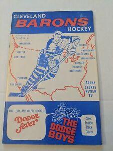 AHL Hockey 1968 Program CLEVELAND BARONS VS SPRINGFIELD KINGS W/TICKETS RARE