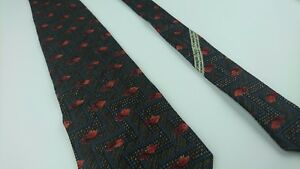 Ermenegildo Zegna Tie Geometric Silk Blend Italy Luxury Classic W 4 L 57.5