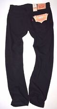 NEW bnwt Mens LEVI'S 501 BLACK 100% cotton demin STRAIGHT LEG JEANS size W31 L30