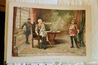 C,1896 Chromolithograph Print King Cursed his Son Gray Litho NY Frank Leslies
